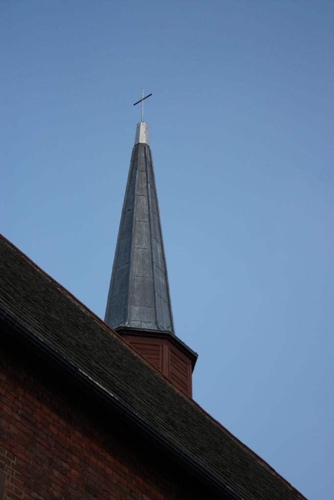 Spire of St George's church in Harraton, Washington